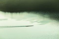 Paysage d'air de Paddlers de canoës images stock