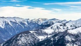Paysage d'Alpes dans Auron, France Photographie stock