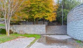 Paysage d'Ankara avec le parc de Segmenler dans la chute photographie stock