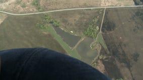 Paysage d'antenne de forêt banque de vidéos