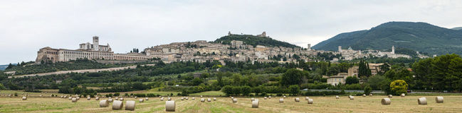 Paysage d'Assisi photo stock