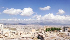 Paysage d'Athènes Photo stock