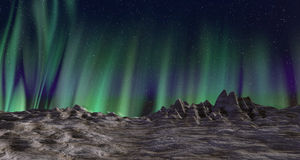 Paysage d'aurora borealis Photos stock