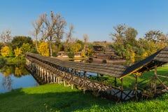 Paysage d'automne au moulin à eau Photo libre de droits