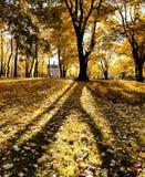 Paysage d'automne avec la maison isolée image libre de droits