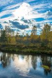 Paysage d'automne dans le contre-jour Images libres de droits