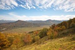 Paysage d'automne dans les montagnes de Lago-Naki Photos stock