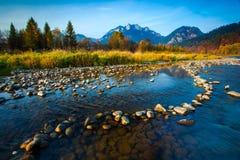 Paysage d'automne dans Pieniny, Slovaquie Photographie stock libre de droits
