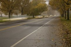 Paysage d'automne dans Princeton photo stock