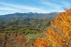 Paysage d'automne dans Pyrénées, Frances photo stock