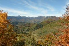 Paysage d'automne dans Pyrénées, Frances photographie stock libre de droits