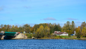 Paysage d'automne dans Vyborg, Russie Image stock