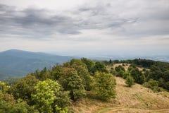 Paysage d'automne de chaîne de montagne Images libres de droits