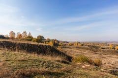 Paysage d'automne de l'Oka River Valley près de Konstantinovo photographie stock