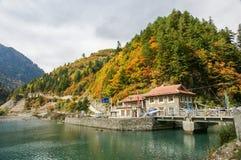 Paysage d'automne de la Chine Sichuan de Heishui photographie stock