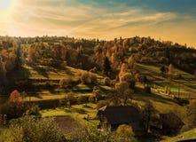 Paysage d'automne de soirée Photographie stock libre de droits