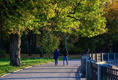 Paysage d'automne de Vyborg, Russie Photo stock