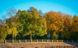 Paysage d'automne de Vyborg, Russie Photos stock