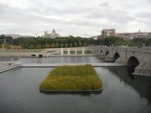 Paysage d'automne en septembre à Madrid en Espagne Photographie stock