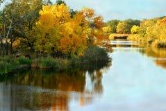 Automne, paysage, près de la rivière Photo stock