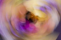 Paysage d'esprit de forme abstraite en harmonie de couleurs Images stock