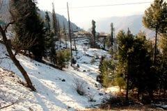 Paysage d'hiver au Pakistan photo stock