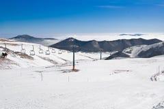 Paysage d'hiver d'Apennine Image libre de droits
