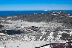 Paysage d'hiver d'Apennine Photographie stock libre de droits