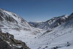 Paysage d'hiver dans les montagnes Photo libre de droits