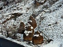 Paysage d'hiver de campagne Image stock