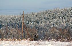 Paysage d'hiver de chaise de basculage d'huile Photo libre de droits