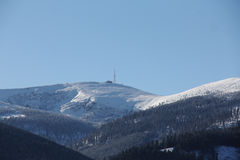 Paysage d'hiver de montagne Image stock