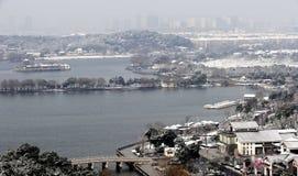 Paysage d'hiver de Suzhou Images stock