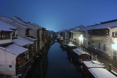 Paysage d'hiver de Suzhou Photos stock