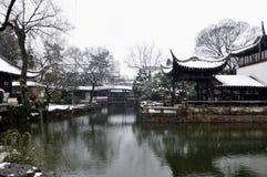 Paysage d'hiver de Suzhou Photographie stock libre de droits