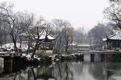 Paysage d'hiver de Suzhou Images libres de droits
