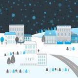 Paysage d'hiver de 04 villes Photographie stock libre de droits