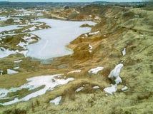 Paysage d'hiver des collines ar?nac?es photo stock