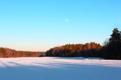 Paysage d'hiver des Monts Oural Photographie stock libre de droits