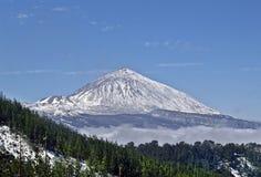 Paysage d'hiver en parc national de Volcan Teide Image stock