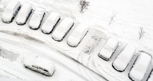 Paysage d'hiver sur le lac Baïkal, Sibérie, Russie Photo stock