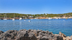 Paysage d'Ibiza Image stock