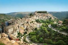 Paysage d'Ibla Sicilia Photos libres de droits