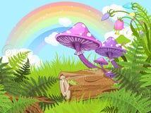 Paysage d'imagination illustration de vecteur