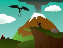 Paysage d'imagination de vecteur illustration stock