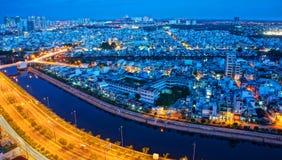 Paysage d'impression de ville de l'Asie Photos libres de droits