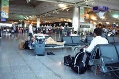 Paysage d'intérieur d'aéroport d'Ataturk Photos libres de droits