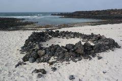 Paysage d'Orzola, Lanzarote, île de canarias Image stock