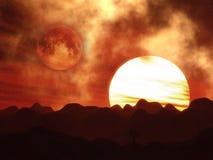 paysage 3D surréaliste Photographie stock libre de droits