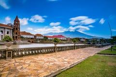 Paysage d'un village colonial espagnol, Philippines De acuzar, Philippines de maisons de las Photos libres de droits